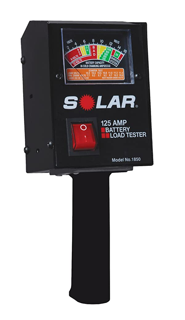 SOLAR 1850 125 Amp Analog Fixed Load Battery Tester (Color: Black)