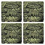 Posterboy The Vintage Pollution MDF Coaster Set, Set Of 4, 101mm, Multicolor