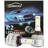 R2 COB 9005 HB3 8000LM LED Headlight Conversion Kit, High Beam Headlamp, Low Beam Headlights, HID or Halogen Head light Replacement, 6500K Xenon White, 1 Pair- 1 Year Warranty