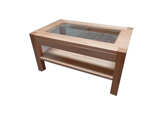 Table basse en cœur de hêtre massif «farah. dimensions: 115 x 48 x 75 cm couleur: rougeVendu avec fabrication sur mesure.