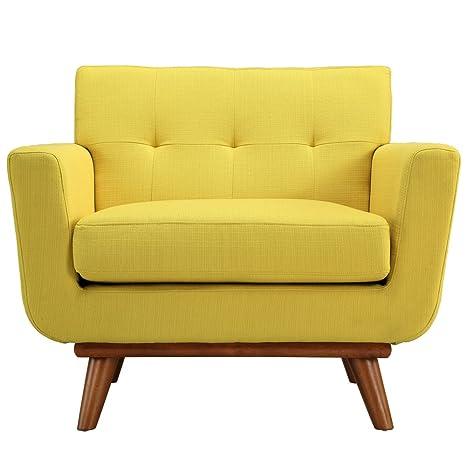 Yellow Modern Wood Armchair FMP25894
