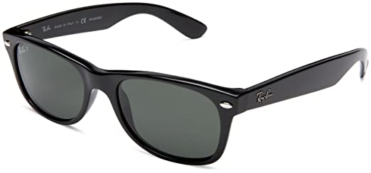 black wayfarer sunglasses ray ban  Ray-Ban Wayfarer Sunglasses (Black) (RB2132 90152): Amazon.in ...