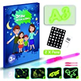 Farielyn-X Draw with Light-Fun Drawing Board Pad Tablet for Kids- Glow LED Child Sketchpad Funny Toys Doodstage Light Drawing Fun and Developing Toy Gift Luminous Drawing Board Set (L) (Tamaño: L (11.8 x 16.5 INCH))