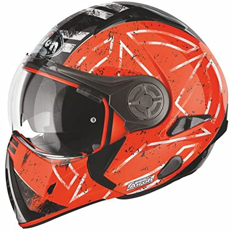 J6C32 j106 airoh casque de moto (orange)