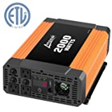 Ampeak 2000W Power Inverter 12V DC to 110V AC Car Converter 3 AC Outlets 2.1A USB Inverter (Tamaño: 2000W)