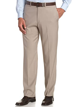 Kenneth Cole REACTION Men's Smooth Sailing Modern Flat-Front Dress Pant