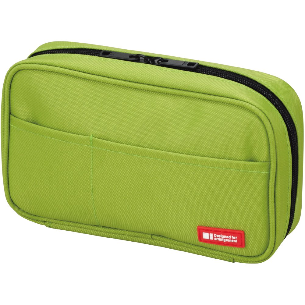 LIHIT LAB Pen Case, 7.9 x 2 x 4.7 inches, Yellow Green (A7551-6)