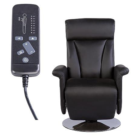 TV Massage Relaxsessel elektrische Ruckenheizung Kunstleder schwarz