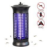 Bug Zapper, Electronic Mosquito Killer UV Light Lamp High Voltage 1000V Mosquito Killing Insect Fly Zapper for Indoor Bedroom Living Room Use (Color: Black)