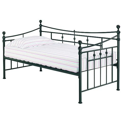 Olivia Metall Tag Bett in schwarz
