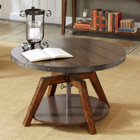 Aspen Motion Round Russet Coffee Table