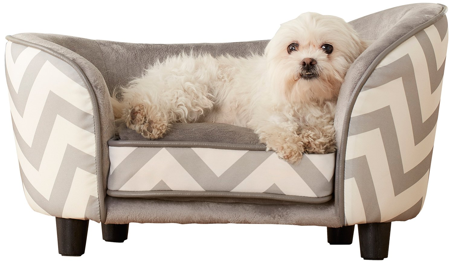 Enchanted Home Pet Snuggle Pet Sofa Bed Chevron