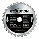Evolution Power Tools Wood Carbide-Tipped Blade, 185 mm (Tamaño: 185 mm)