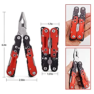 Stainless Steel Pocket Multitool Pliers/Multi Knife with A Camouflage Nylon Sheath for Home Riding Fishing Camping or Outdoor Activities.