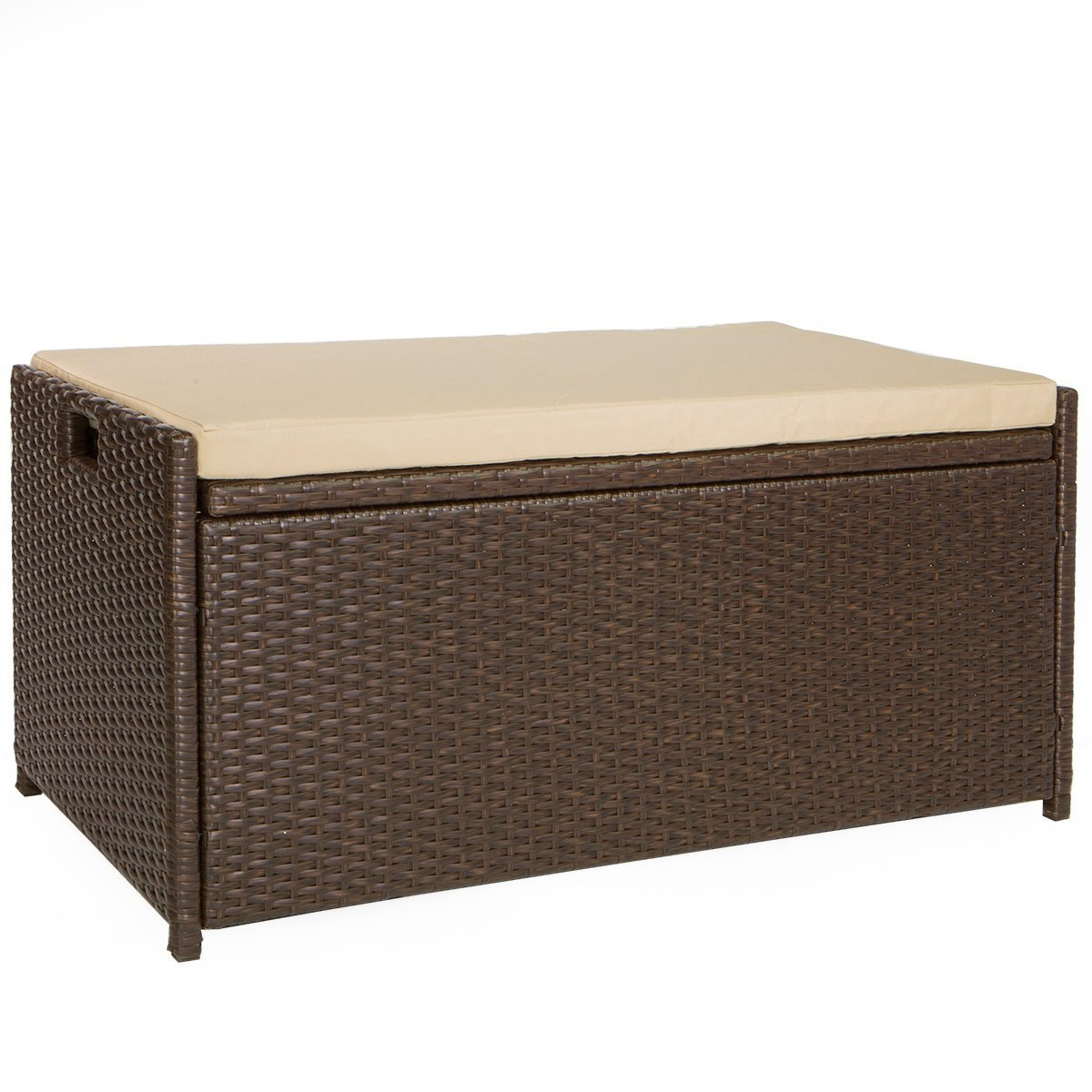 Victoria Young Resin Wicker Deck Box Storage Bench