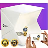 Photo box - Lightbox - Portable photo studio - Light box photography - Product photography light box - Photo light box - Light tent - Mini led studio photo box - Product photography kit - Light box (Color: White)
