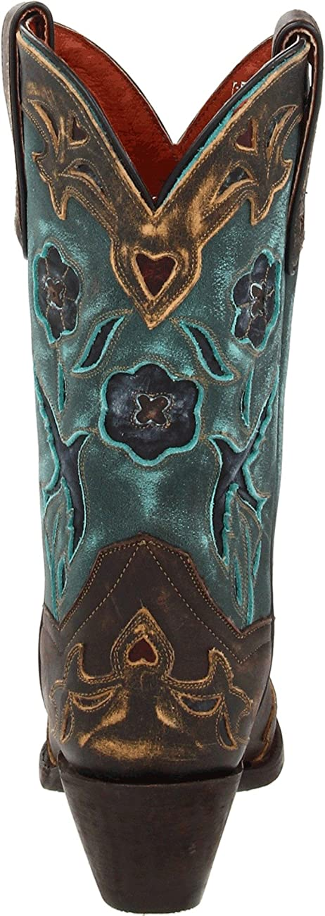 Dan Post Women's Vintage Blue Bird Western Boot 2