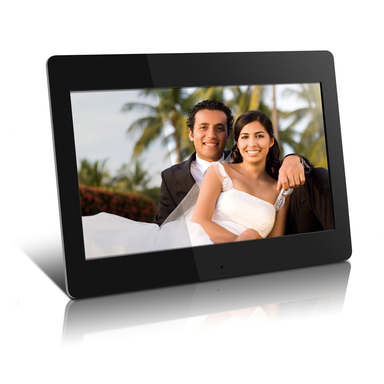 High Resolution 14 inch Digital Photo Frame w/512MB Built-in Memory and Remote (1366 x 768) ADMPF114F
