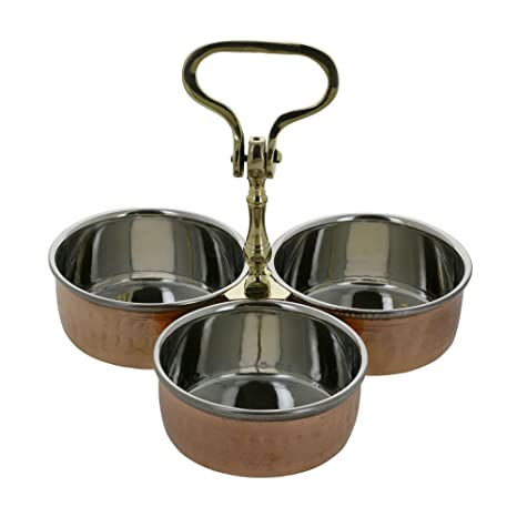 Indian Pickle Condiment Chip N Dip Relish Serving Set at amazon