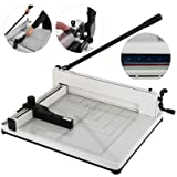 Mophorn Paper Cutter 17Inch A3 Industrial Heavy Duty Guillotine Trimmer 400 Sheets Paper Trimmer Steel Base Stack Cutter for Office Commercial Photocopy Printing Shop (A3, 17Inch) (Color: A3, Tamaño: 17Inch)