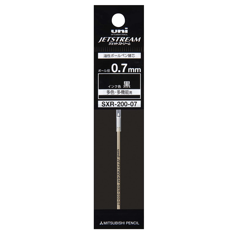 Amazon.co.jp: 【三菱鉛筆】ジェットストリーム PRIME用替芯 SXR-200-07 黒 0.7mm: 文房具・オフィス用品
