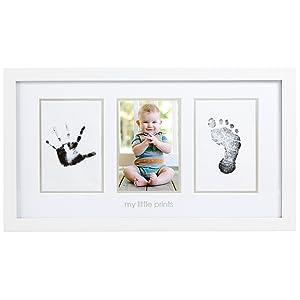 Pearhead 13032 Deluxe Photo Frame, Wandbilderrahmen für ein Foto, Hand und Fußabdruck, weiß   Rezension