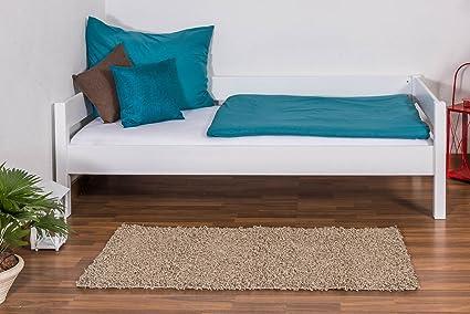 Tagesbett / Gästebett Benedikt Buche Vollholz massiv weiß lackiert, inkl. Rollrost - 90 x 200 cm