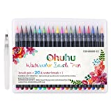 Watercolor Brush Pens, Ohuhu 20 Colors Water Color Painting Markers W/ A Water Coloring Brush, Watercolor Paints for Adult Coloring Books Manga Comic Calligraphy, Back To School Art Supplies (Color: 20 Colors, Tamaño: 20 Colors)