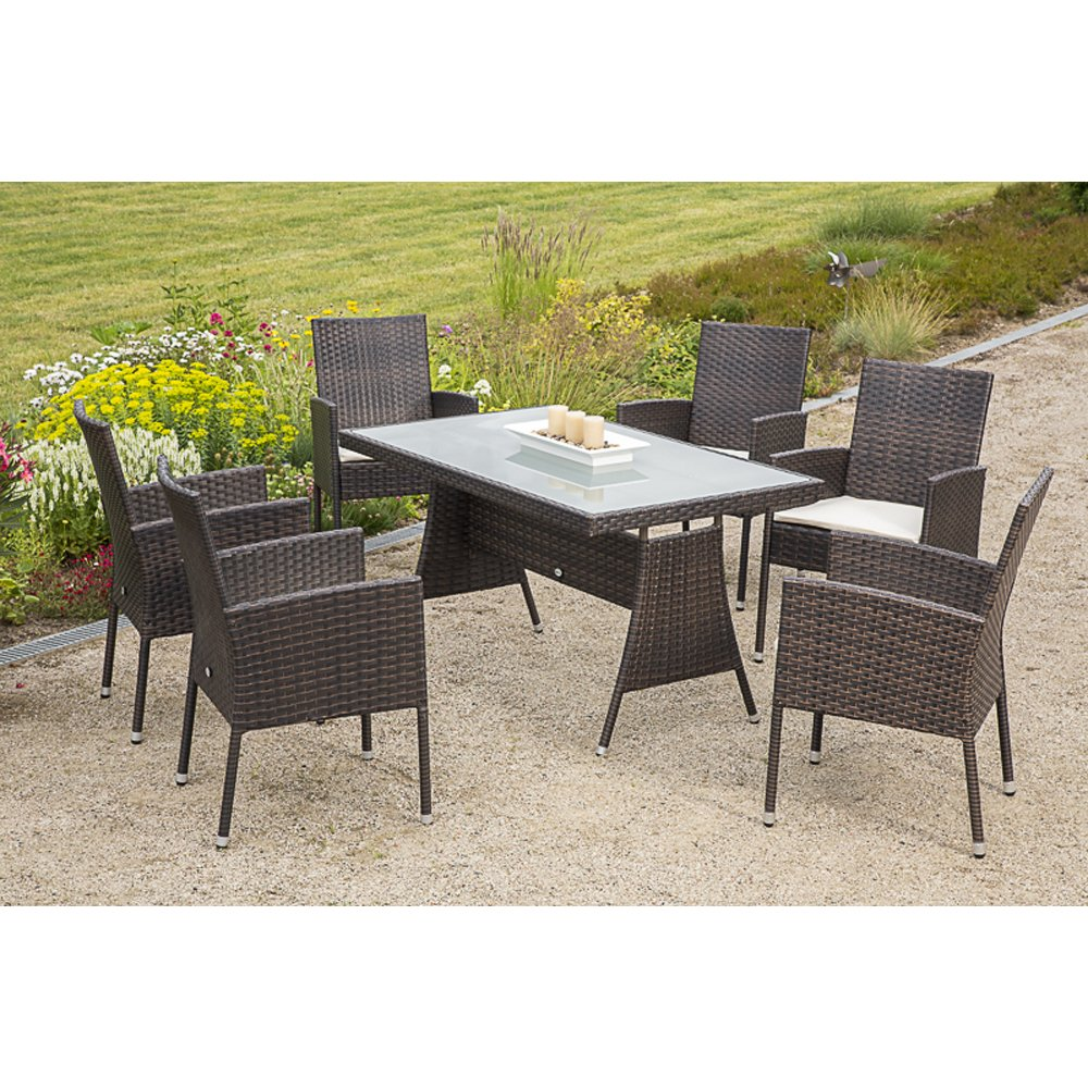 merxx gartenm bel set lecce 13 tgl sessel inkl sitzkissen und tisch 140x80 cm bestellen. Black Bedroom Furniture Sets. Home Design Ideas