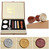 Wax Seal Stamp Kit,Mingting Vintage Wax Stamp Seal Kit Initial Letters Alphabet (W) (Color: W)