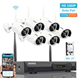 [Newest Strong Version WiFi] Wireless Security Camera System, ISOTECT 8CH Full HD 1080P Video Security System, 6pcs Outdoor/Indoor IP Security Cameras, 65ft Night Vision and Easy Remote View, 2TB HDD (Color: 6pcs 1080P Cams+8CH 1080P NVR(2TB HDD Pre-installed))