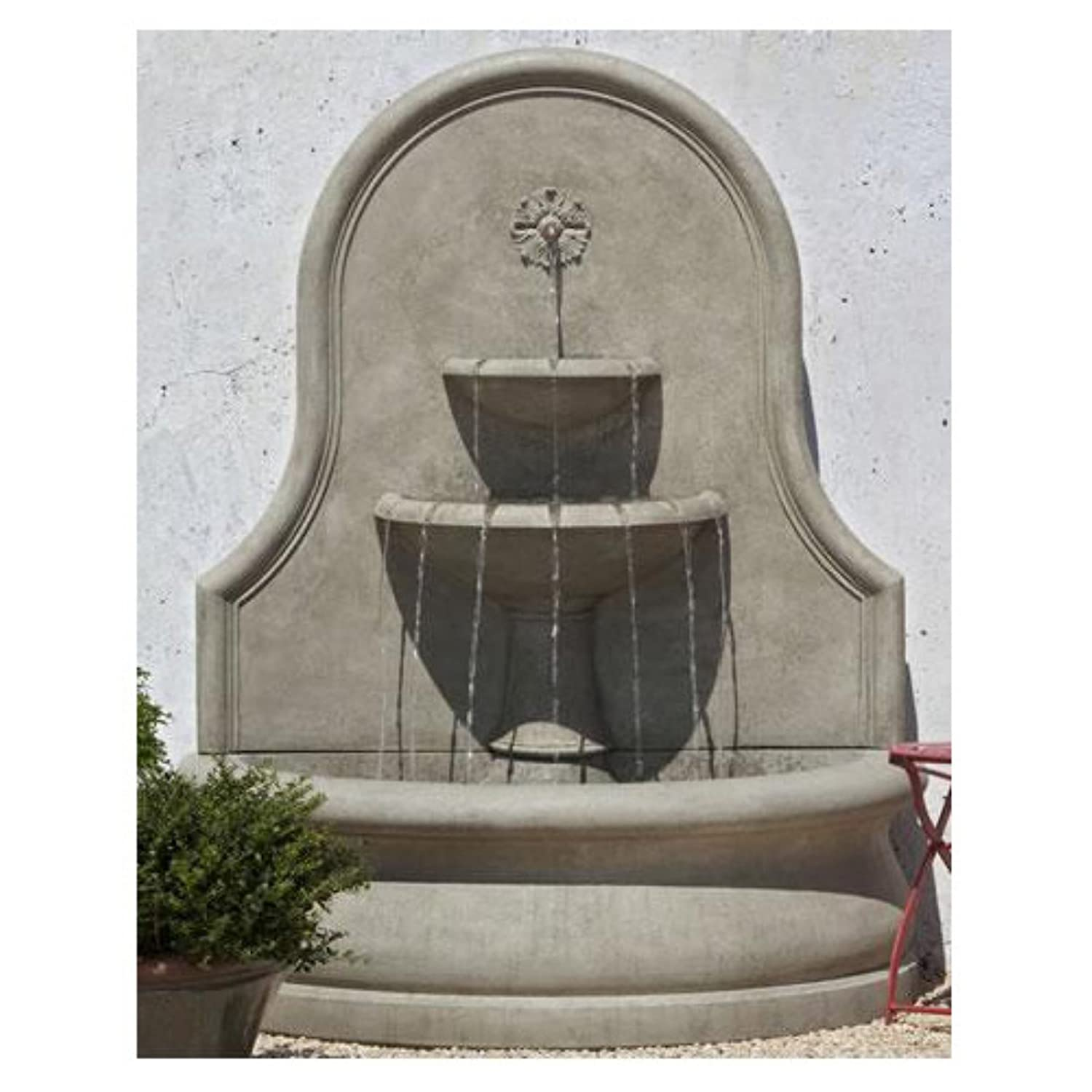 Outdoor wall mounted fountains styles for Outdoor wall fountains