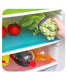 Shop Buzz Refrigerator Drawer Mats (Assorted Colour) - Pack of 6