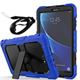 Newseego Samsung Galaxy Tab A6 10.1'' Case, Full Body Shockproof Hybrid Rugged Heavy Duty Protective Case with Shoulder Straps & Sturdy Kickstand for Galaxy Tab A 10.1'' Tablet (SM-T580/T585) - Blue (Color: Blue)