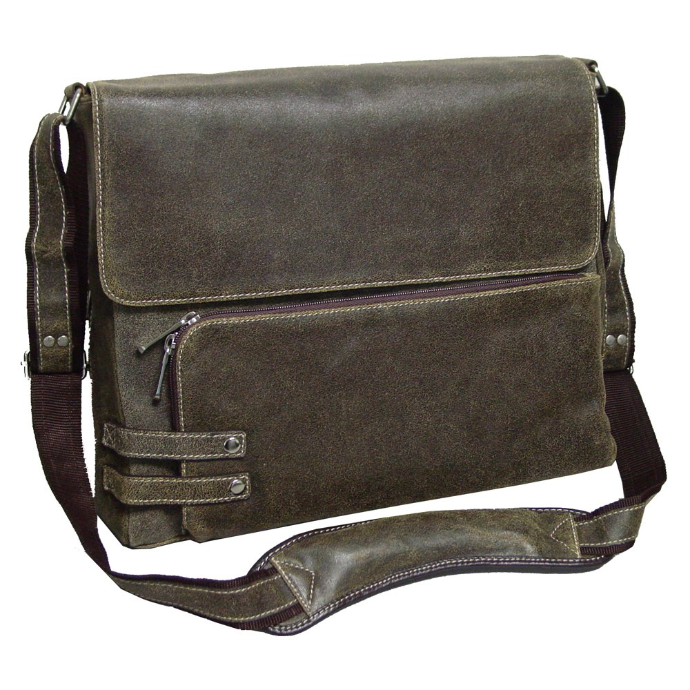 The Dean Distressed Leather Messenger Bag