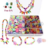 Bead Kits for Girls - Kids Crafts Girls Jewelry Making Kits Colorful Acrylic Girls Bead Set Jewelry Crafting Set (Color: Style2)