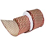 Morex Ribbon Wired Polyester Chevron Cheer Ribbon, 2-1/2