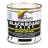 Chalkboard Blackboard Paint - Brush on Wood, Metal, Glass, Wall, Plaster Boards Sign, Frame or Any Surface. Use with Chalk Pen Wet Erase, Safe and Non-Toxic. Matte Finish - Black 8.5oz - Up to 100sf (Color: Black, Tamaño: 8.5oz)