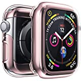 Penom Case for Apple Watch Screen Protector Series 4 40mm, Ultra Thin iWatch 40mm Screen Protector with Full Protection TPU Cover Rose Gold (Color: Rose Gold, Tamaño: 40mm)