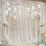OFILA Wedding Backdrop 6x6ft Romantic Flowers Bride Groom Portraits Wedding Reception Decoration Love Engagement Party Background Sweet Anniversary Photos Bridal Shower Shoots Studio Props (Color: Wedding 9, Tamaño: 6x6ft)