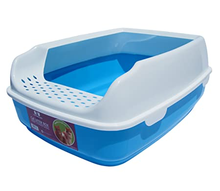 Cat Litter Box - High Sided Lid - Open Top Entry - By Two Meows