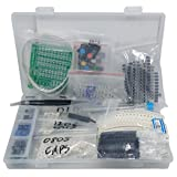 SMD 1206 0805 0603 Component Assortment, Resistor, Capacitor, Diode, Transistor, LED, OpAmp, IC, Solder, PCB, SMT Soldering Assorted Kit 2700 pcs (Color: clear box, Tamaño: Small)