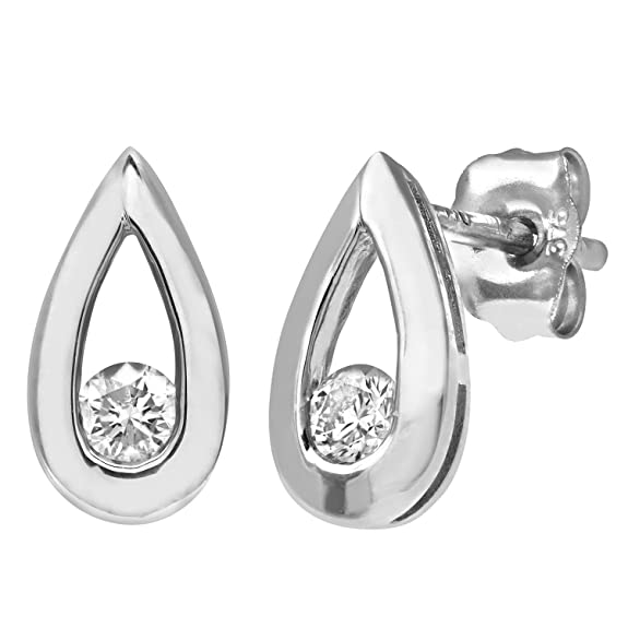 Naava 0.15 ct Diamond Earrings in 9 ct Yellow