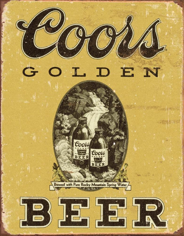 COORS Golden Vintage Tin Sign , 12x16 0