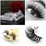 Vanlov 3D Mink False eyelash Reusable 100% hand made fake eyelashes for Make-up 1 Pair Package (1-Pack) (Tamaño: 1 pair)