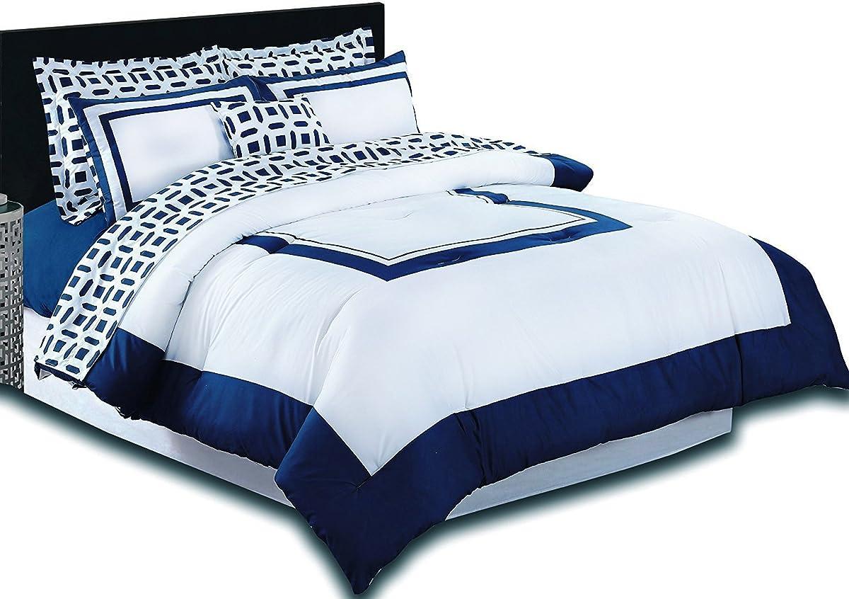 Utopia Bedding Queen Bedroom Set, Blue (8-Piece)