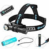 OLIGHT Bundle H2R Cree LED Up to 2300 lumens Rechargeable Headlamp Flashlight Customized Battery - Magnetic USB Charging Cable- Headband - Clip and Mount Patch (Neutral White) (Color: Neutral White)