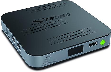 STRONG SRT 2020 HD Récepteurs Android et Streaming Media Player (Android 4.4.2, LAN, WLAN, HD Internet TV, Bluetooth, USB, SD, HDMI) incl. QWERTY télécommande avec la souris de l'air, PVR prêt