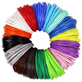 3D Pen PLA Filament Refills 1.75mm, 16 Colors, 10 Foot per Color, Total 160 Foot (Color: 16 different colors included:White- Yellow- Orange- Red- Bright Green Dark Green- Bright Blue- Sapp)