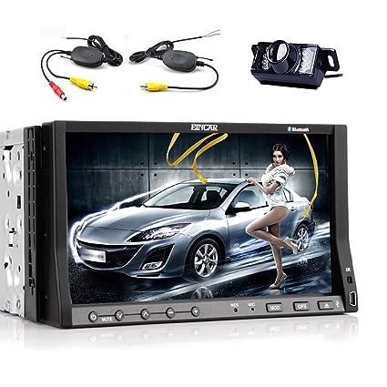 eincar 2DIN l'autoradio stéréo de voiture GPS Navigation HD Appareil Photo Numérique sans fil voiture lecteur DVD Récepteur Média avec diapositive Down 7capacitif Multi-Touch écran tactile LCD